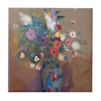 Bouquet of Flowers - Odilon Redon Tile
