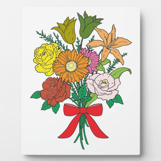 Bouquet of Flowers Plaque