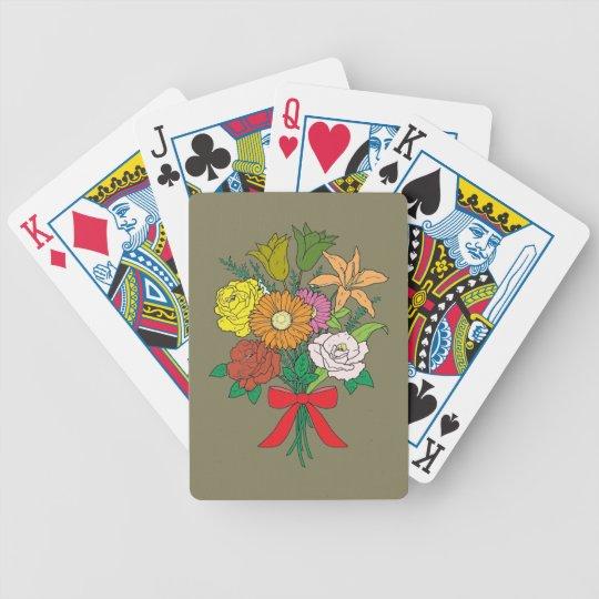 Bouquet of Flowers Poker Deck