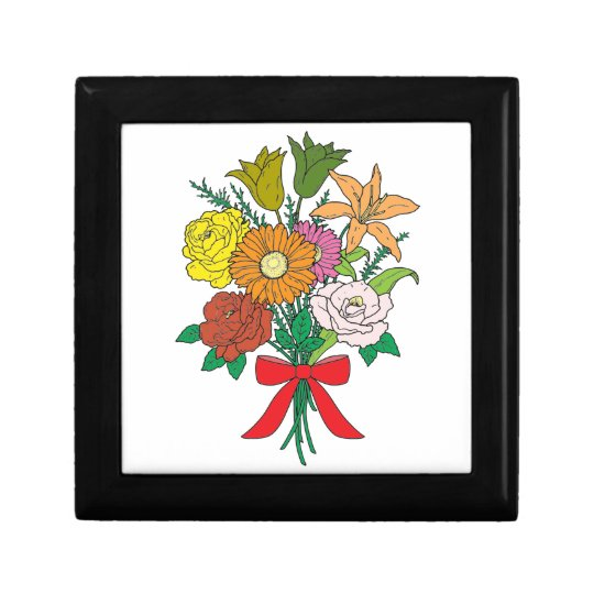 Bouquet of Flowers Small Square Gift Box