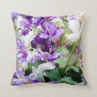 Bouquet of Flowers Square Pillow