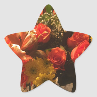 Bouquet of Flowers Star Sticker