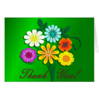 Bouquet Of Flowers Thank You! Greeting Card