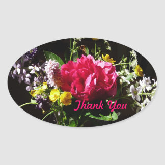 Bouquet of Flowers Thank You stickers