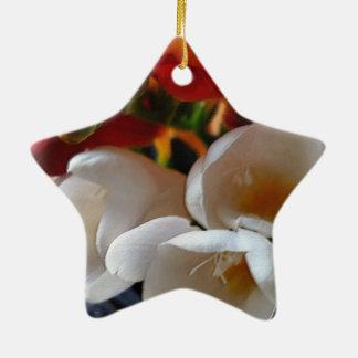 bouquet of freesias ceramic star decoration