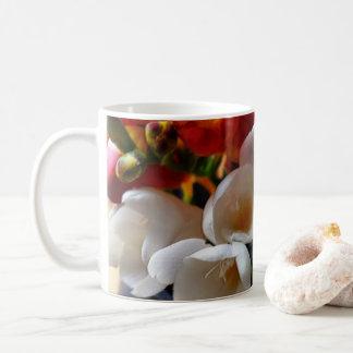 bouquet of freesias coffee mug