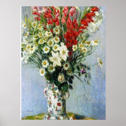 Bouquet of Gadiolas Poster