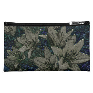 Bouquet of lilies cosmetic bag