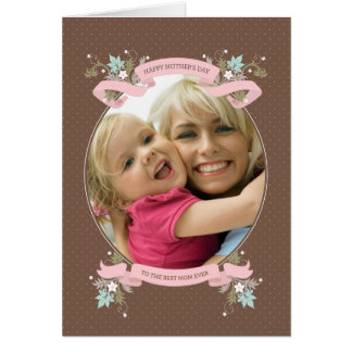Bouquet of Love Framed Photo Mother's Day Card
