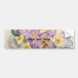 Bouquet of pansies bumper sticker