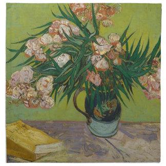 Bouquet of Pink Flowers in Vase Napkin