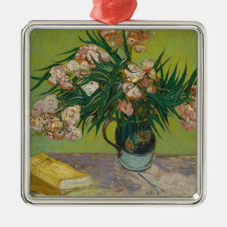 Bouquet of Pink Flowers in Vase Silver-Colored Square Decoration