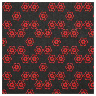Bouquet of red flowers fabric