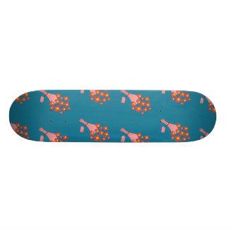 Bouquet of Roses dark blue 18.1 Cm Old School Skateboard Deck