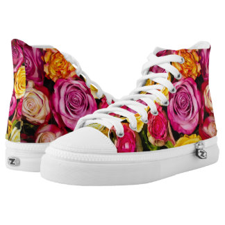 Bouquet of Roses Floral High Tops