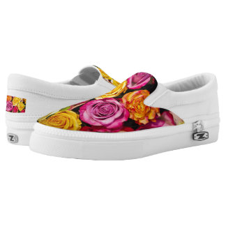 Bouquet of Roses Floral Slip On Shoes
