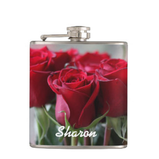 Bouquet of Roses Personalized Flask