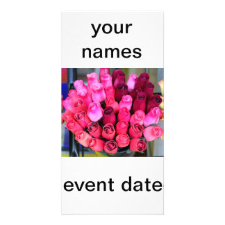 bouquet of roses photocard personalized photo card