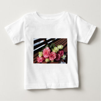Bouquet Of Roses Pink Roses White Roses Bouquet Baby T-Shirt