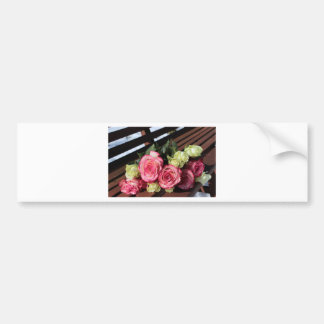 Bouquet Of Roses Pink Roses White Roses Bouquet Bumper Sticker