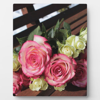 Bouquet Of Roses Pink Roses White Roses Bouquet Plaque