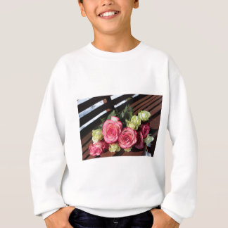 Bouquet Of Roses Pink Roses White Roses Bouquet Sweatshirt