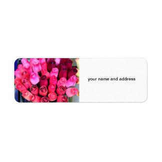 bouquet of roses return address labels