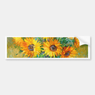 Bouquet of sunflowers bumper sticker