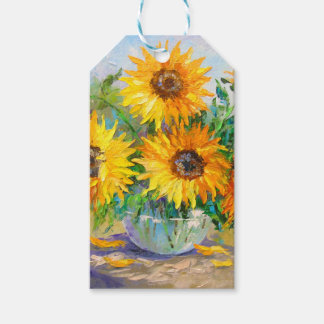 Bouquet of sunflowers gift tags