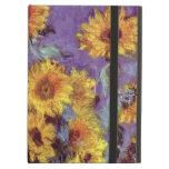 Bouquet of Sunflowers, Monet, Vintage Flowers Art iPad Folio Case