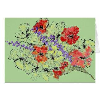 Bouquet of Wildflowers Art Sketch Card