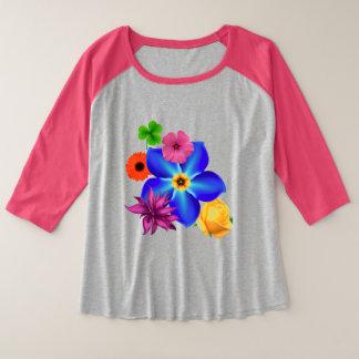 Bouquet Plus Size Raglan T-Shirt