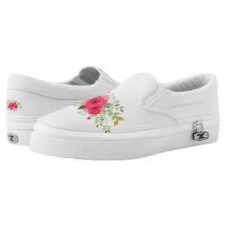 bouquet printed shoes