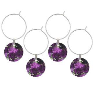Bouquet Purple Carnations Wine Charm