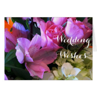 Bouquet Religious Wedding Wishes Card