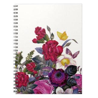 Bouquet vintage spiral notebooks
