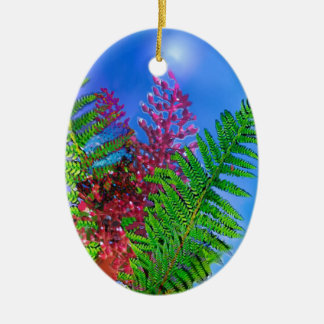 Bouquet with ferns ceramic ornament