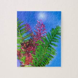 Bouquet with ferns jigsaw puzzle