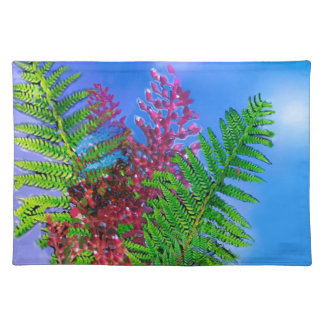 Bouquet with ferns placemat