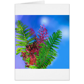 Bouquet with ferns.PNG Card