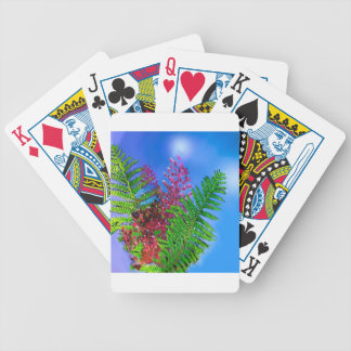 Bouquet with ferns poker deck