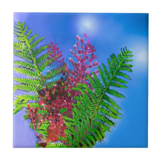Bouquet with ferns tile
