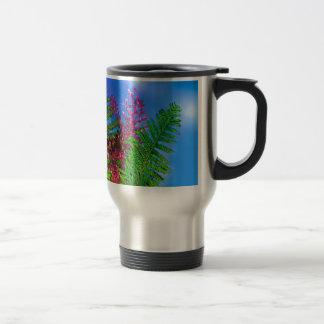 Bouquet with ferns travel mug