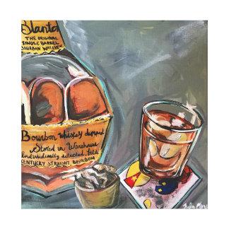 Bourbon Bar Art Canvas Print