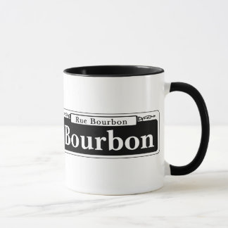 Bourbon St., New Orleans Street Sign Mug