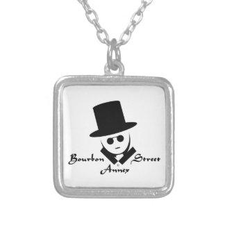 Bourbon Street Annex Logo Square Pendant Necklace