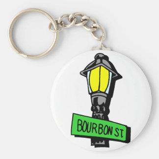 Bourbon Street Mardi Gras Key Ring