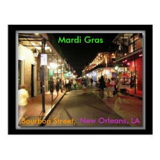 Bourbon Street Mardi Gras, New Orleans, LA postcar Postcard