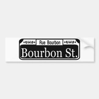 Bourbon Street Sign Bumper Sticker
