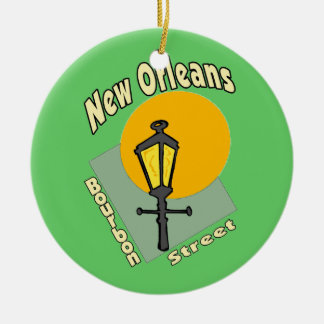 Bourbon Street Sign Ceramic Ornament